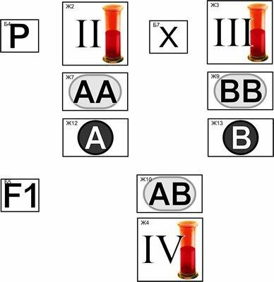 Фотография товара: Модель-аппликация Генетика групп крови.