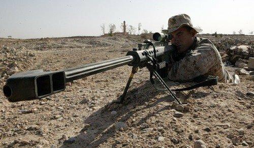 Крупнокалиберная снайперская винтовка Баррет М-107