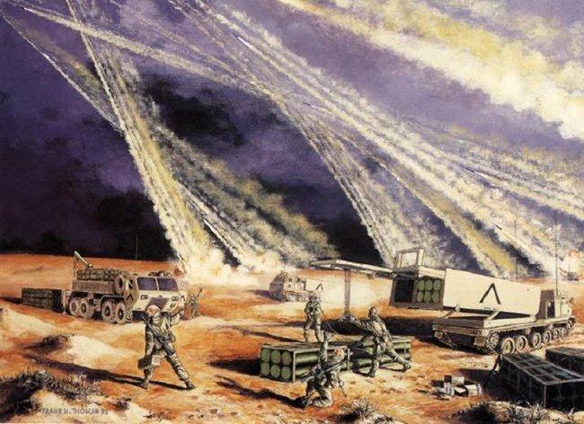 MLRS (Multiple Launch Rocket System) — реактивная система залпового огня