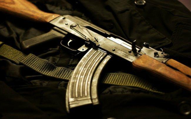 автомат калашникова, ак-47, оружие, автомат, рожек.