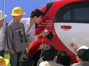 Быстрое зарядное устройство для электромобиля i-MiEV