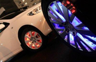 Подсветка автомобильных дисков