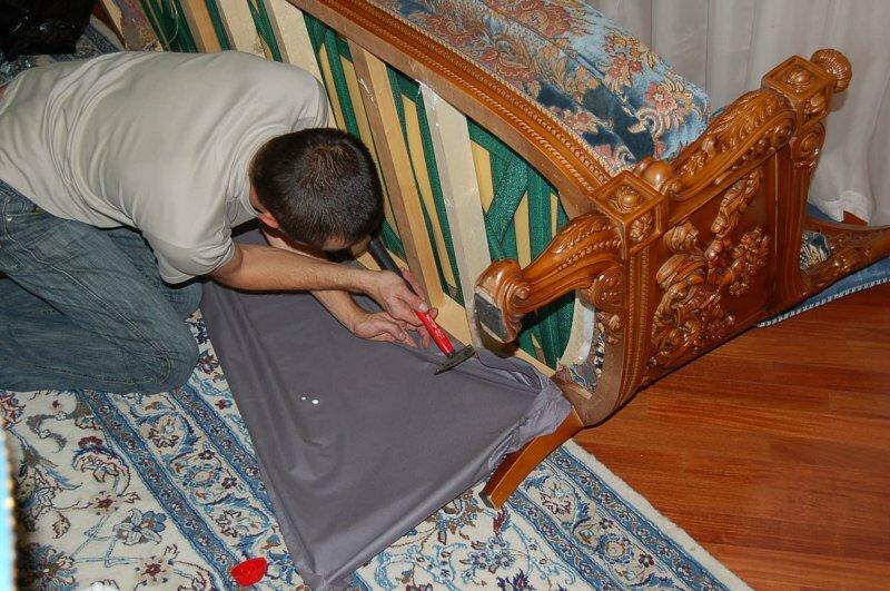 Обтяжка мебели своими руками фото